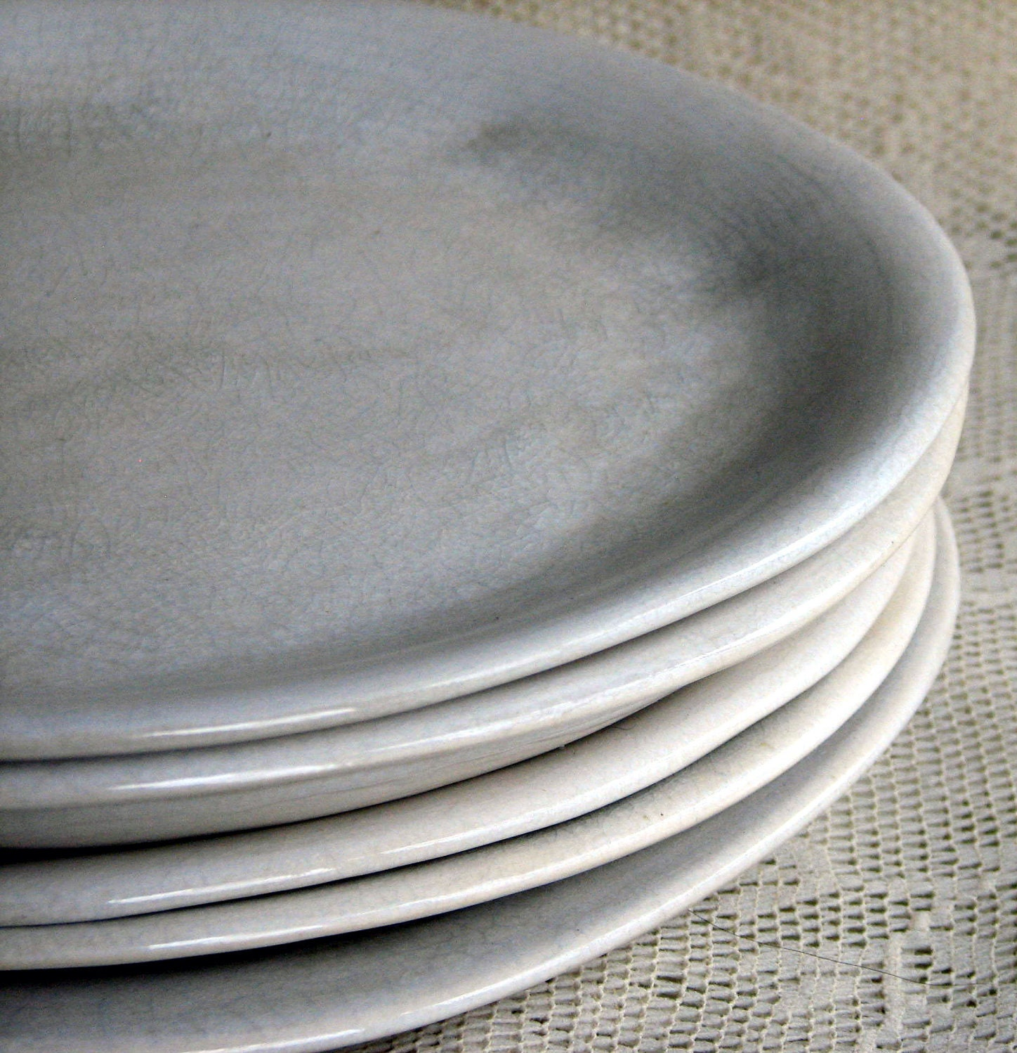 handmade organic plates white crackle dinner plates