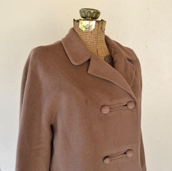 1960s Cashmere Coat Mink Large
