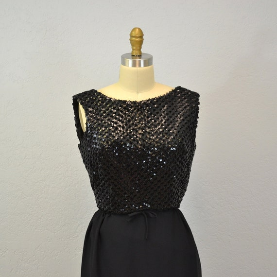 RESERVED 1960s sequin dress / cocktail dress / glam