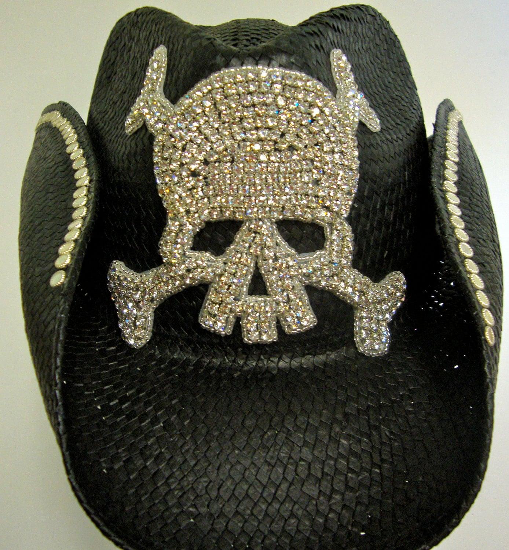 Skull Cowboy Hat Skull Black Cowboy Hat