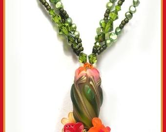 FIRE GARDEN   Designer Necklace Kit  Kristen Frantzen Orr Focal