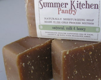 Oatmeal, Milk and Honey Cold Process Soap Bar