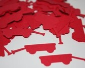 Ready to Ship! 200 pieces Little Red Wagon Die Cut Confetti
