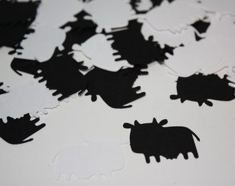 Black and White Cow Die Cut Confetti 200 pieces