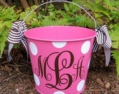 Personalized Easter Bucket assorted colors-5 QT.