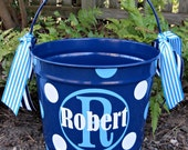 Personalized Easter Bucket 10 QT assorted colors