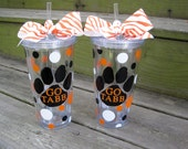 Personalized acrylic tumblers with lid and straw-20 oz.