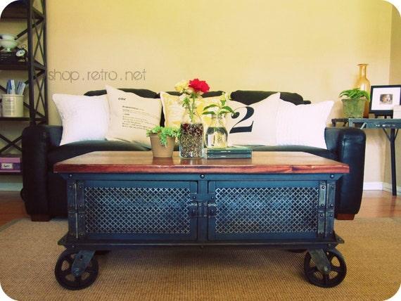 ellis coffee table vintage industrial flat by vintageindustrial. Black Bedroom Furniture Sets. Home Design Ideas