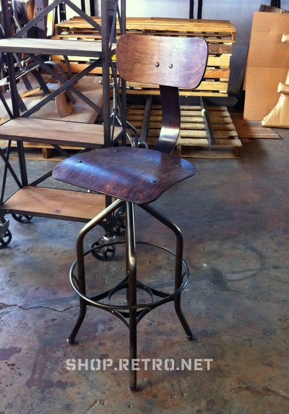 Vintage Industrial Toledo Reproduction Drafting Stool / Chair (EIGHT)