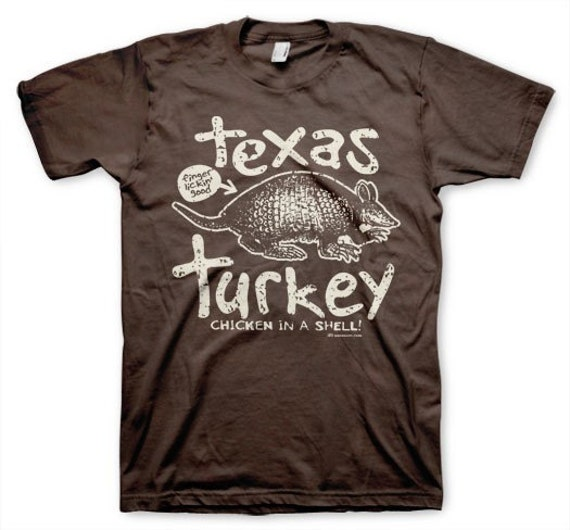Texas Turkey men's armadillo nerdy vintage funny t-shirt brown s, m, l, xl
