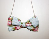 Girly Floral Bow Necklace