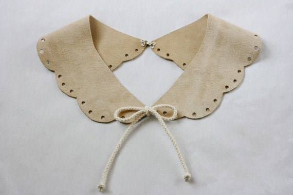 Leather Scalloped Collar