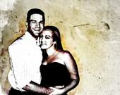 Custom Wedding Anniversary Photo Gift On Canvas 9x12
