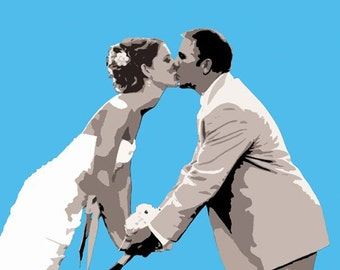 Custom Unique Wedding Canvas Pop Art 16x20