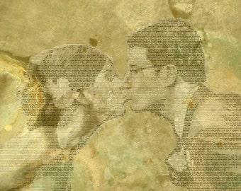 Custom Wedding or Anniversary Gift Text Photo Canvas 20x24