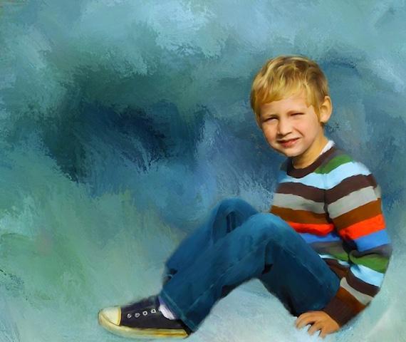 Custom Children Acrylic Painting on Canvas 16x20