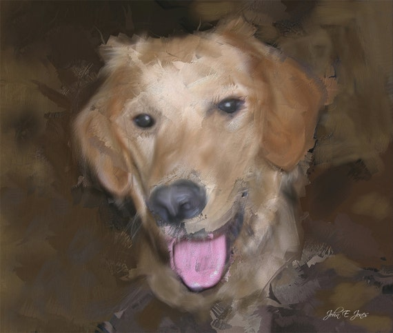 Custom Canvas Gift Pet Oil Painting from Your Photograph 16x20