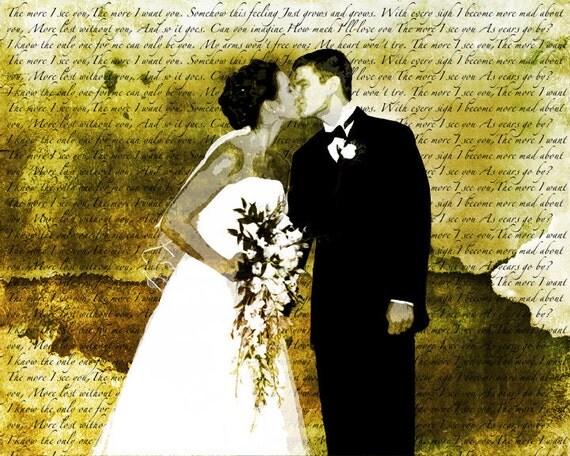 Song Lyric Wedding Vows Custom Canvas Wall Art By Studiojones1