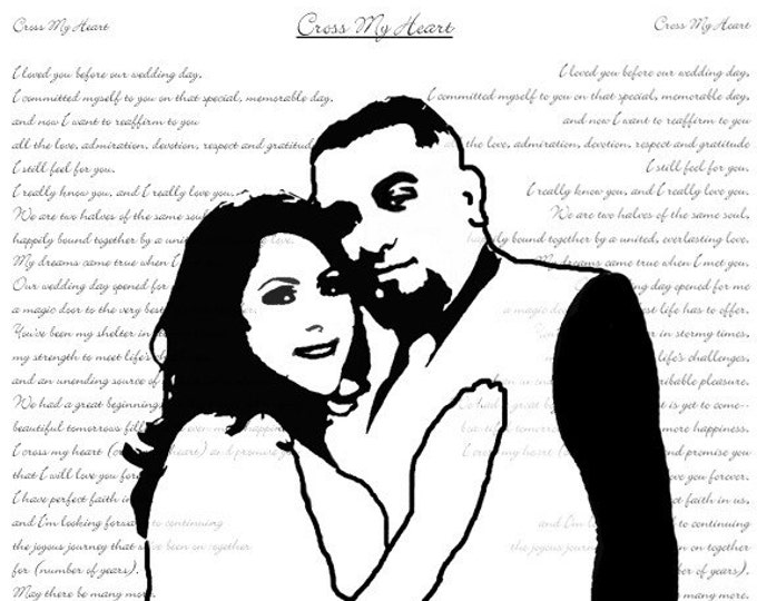 Gift For Couple Wedding Vow Art First Dance Lyrics First Dance Songs Song Lyric Art Word Art 2nd Anniversary Couple Portrait on Canvas 16x20