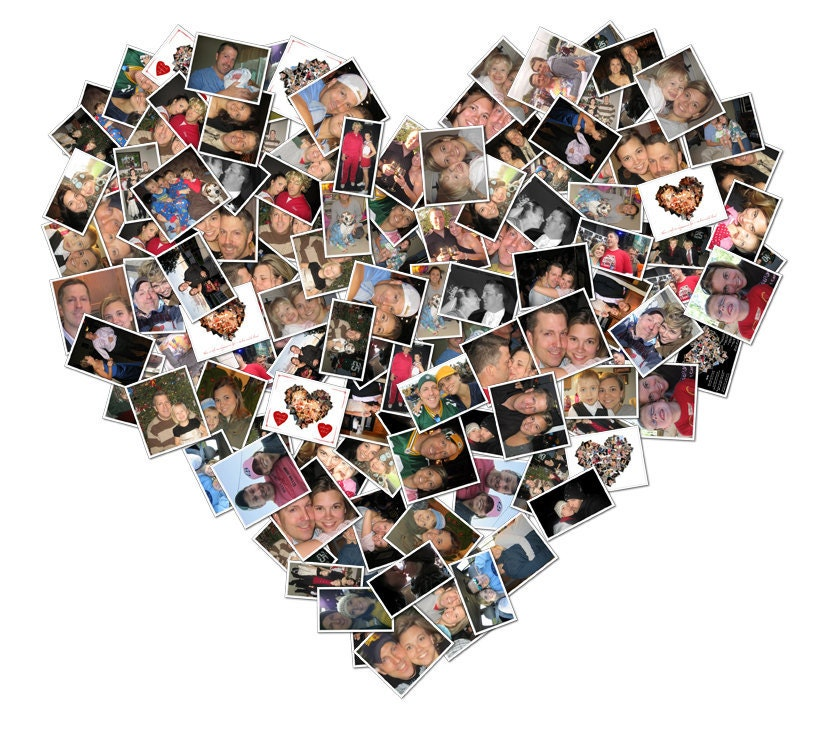 heart collage photo gift valentines day gift for boyfriend