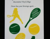 Glass Tatz - Tennis (drink marker, vinyl cling)