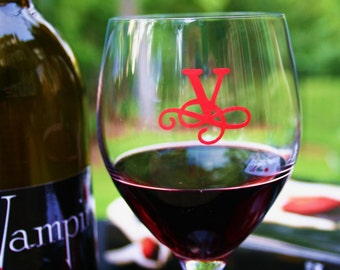 Glass Tatz - TWILIGHT (wine glass cling)