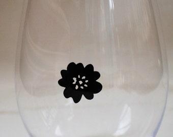 Glass Tatz - Poppy (wine glass clings)