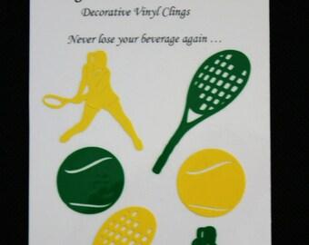 Glass Tatz - Tennis (drink marker, vinyl cling)