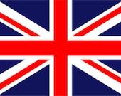 STENCIL British Union Jack Flag  10x6