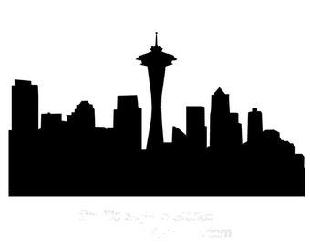STENCIL Seattle City Skyline 10 X 5