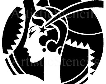 STENCIL Art Deco Woman 7 inch