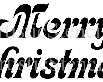 STENCIL Merry Christmas  10x4