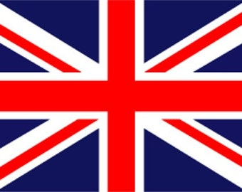 STENCIL British Union Jack Flag  10x6