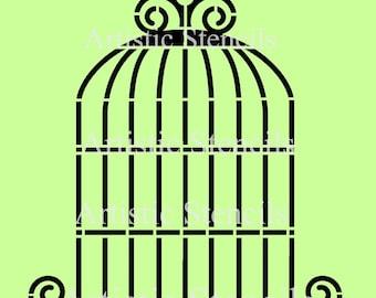 STENCIL Bird Cage 10x9