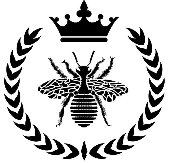 Queen Bee Wreath Crown Reusable Stencil 10x10 Wood Signs Home
