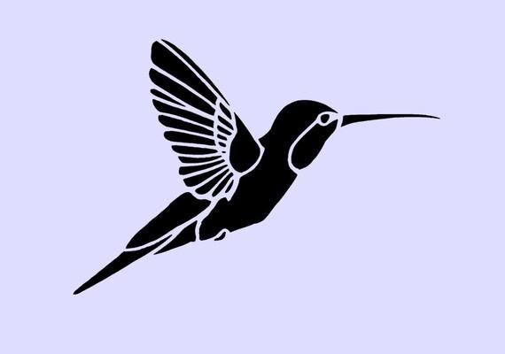 Hummingbird Stencil Hummingbird stencil