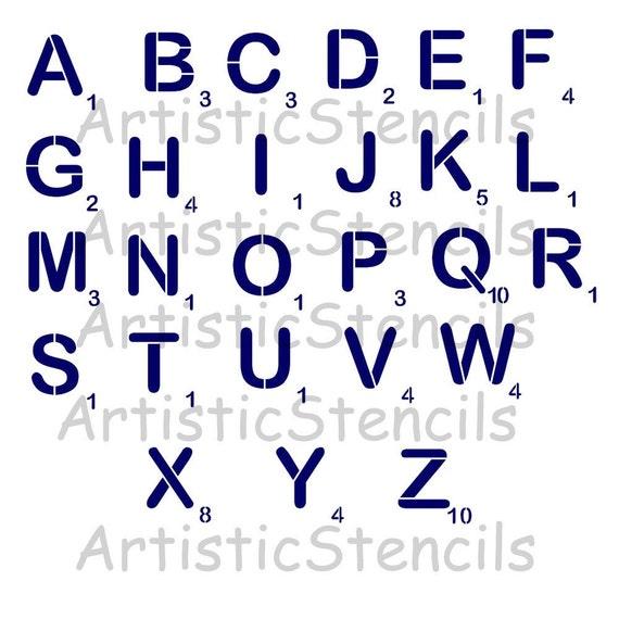 STENCIL Your Choice Large Scrabble Font
