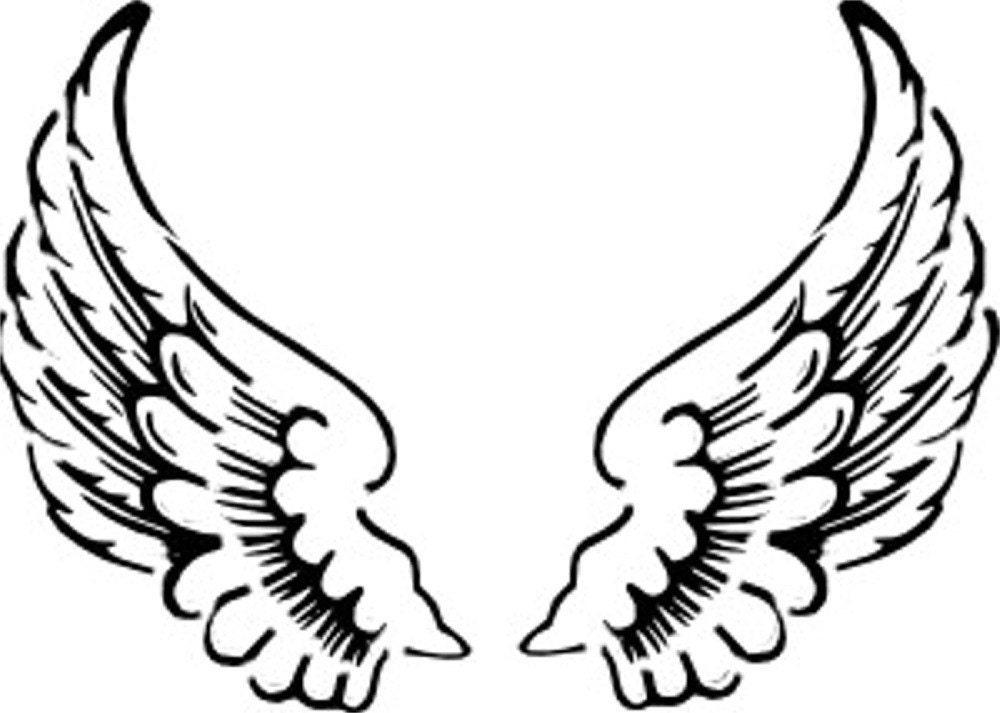 Clever image in printable angel wings