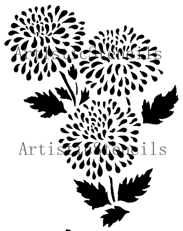 flower stencil patterns - photo #26