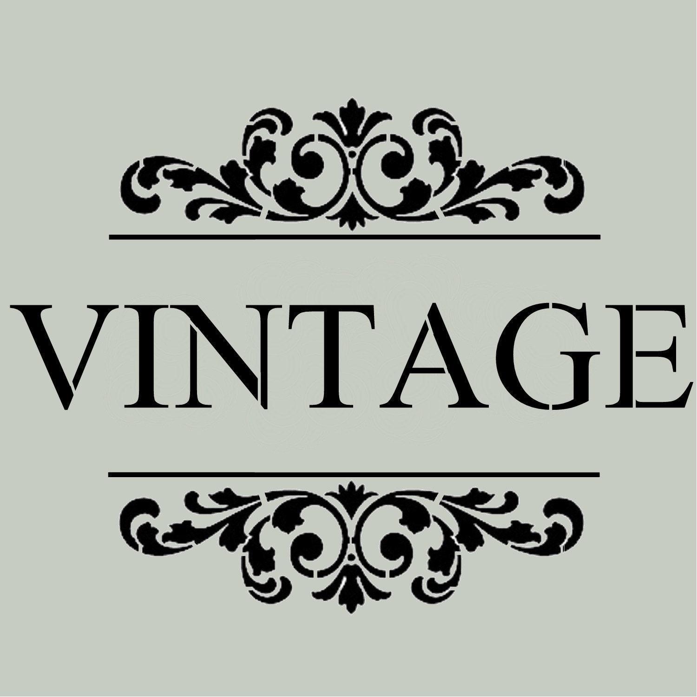 Stencil vintage with scroll brackets 10x13 for Scritte vintage