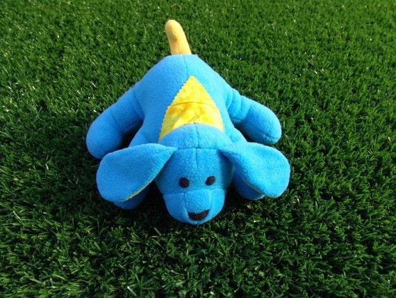 Stuffed Animal - Lying Doggie turquoise