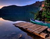 Photo Art - Fine Art Photography - Landscape Photography - Mt. Rainier National Part - Lake Mowich - 8 X 12