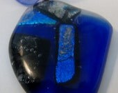 Glass Dichroic Cabachon Pendant Necklace 28
