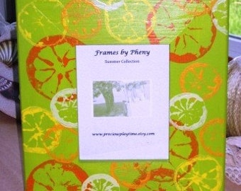SIMPLY CITRUS SUMMER  Picture Frame for 5x7 Photo