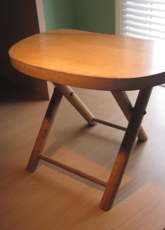 Folding Wooden Stool By Nevco Foldn Carry Made In Yugoslavia