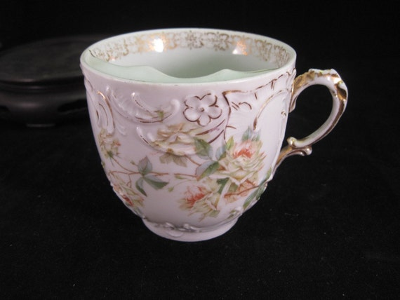 Antique Porcelain Moustache Cup made in Germany  C.T. Eagle Marking