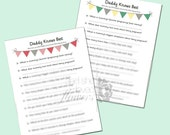 Daddy Knows Best Download - DIY Printable Baby Shower Game