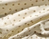Café au lait Latte Polka DOT Dotty Vintage Fabric 50s 60s Yards Yardage BTY