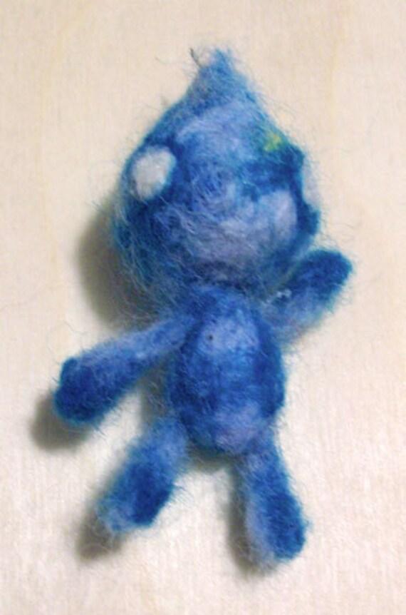 Water Elemental Felt Doll