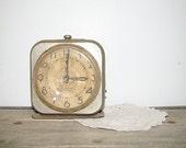 antique metal clock . at montanasnowvintage